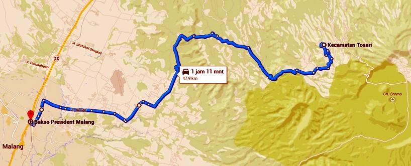 Jalur Tosari - Malang