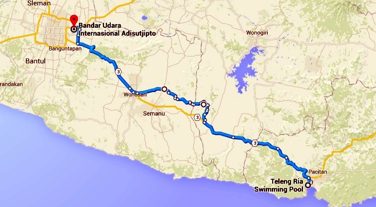 Jalur Pacitan - Yogyakarta