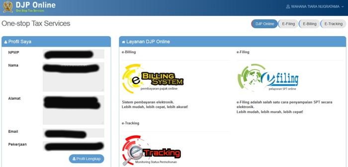 Pajak DJP Online