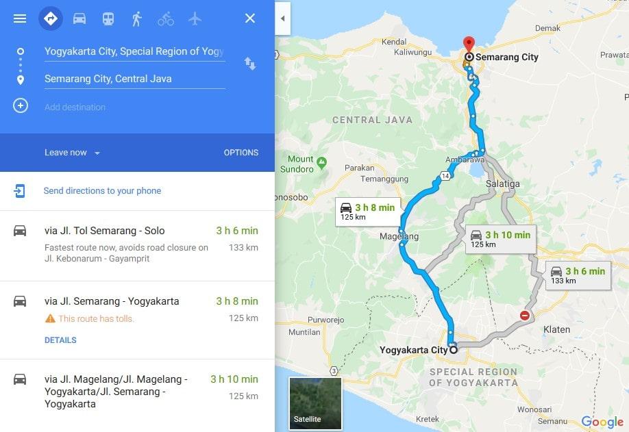 Jalur Yogyakarta - Semarang