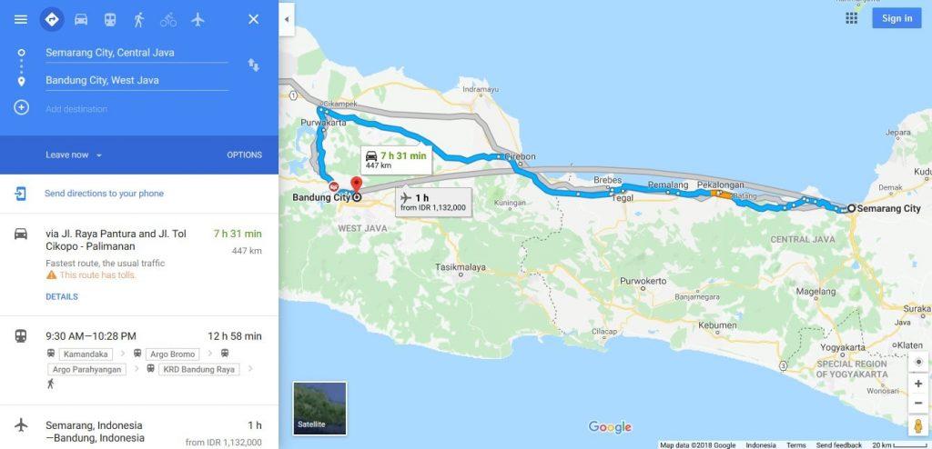 Jalur Semarang - Bandung